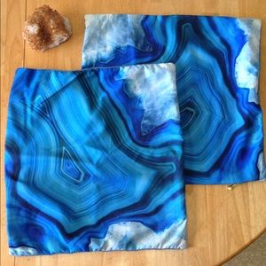 Free add on to bundle, set of blue cushion covers